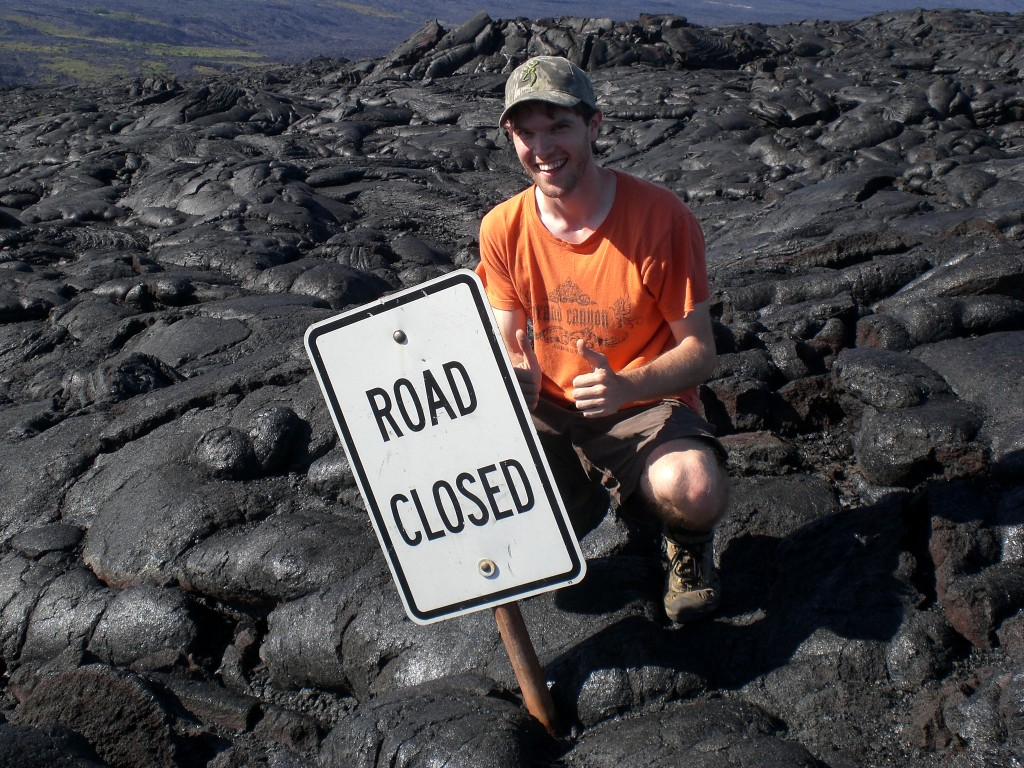 Me at the end of Chain of Craters Road, Volcanoes National Park, Hawaii.