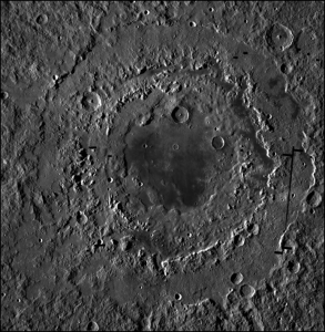 Orientale basin captured by the Lunar Reconnaissance Orbiter Camera.